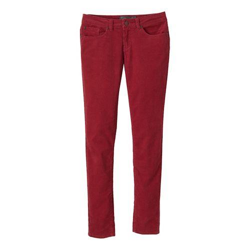 Womens Prana Trinity Cord Full Length Pants - Crushed Cran 10
