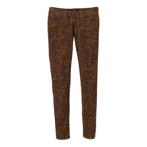 Womens Prana Trinity Cord Full Length Pants - Dark Ginger 4
