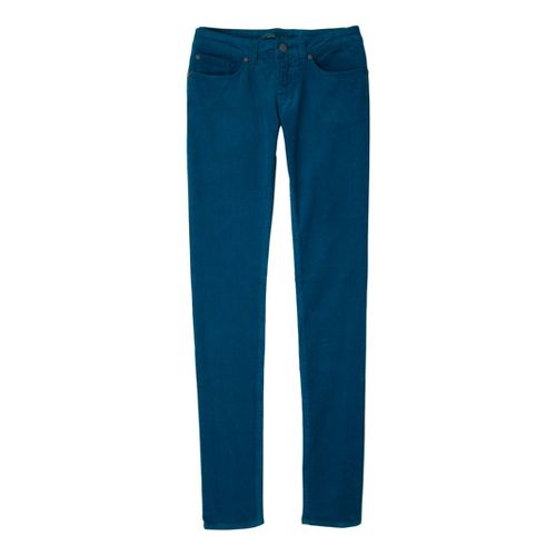 Womens Prana Trinity Cord Full Length Pants - Ink Blue 12