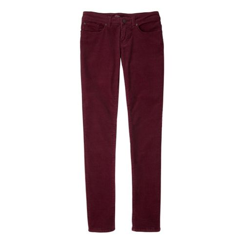 Womens Prana Trinity Cord Full Length Pants - Pomegranate 10