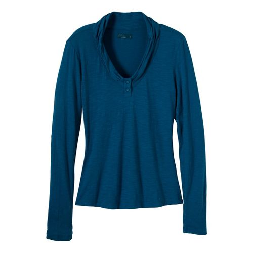 Womens Prana Vanessa Long Sleeve Non-Technical Tops - Ink Blue S