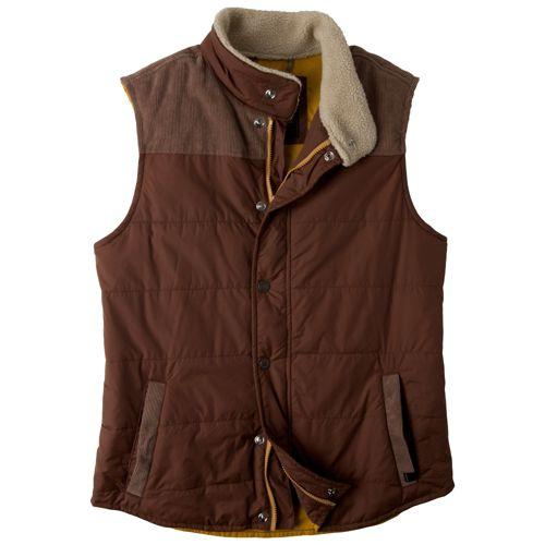 Mens Prana Waylen Outerwear Vests - Auburn XL