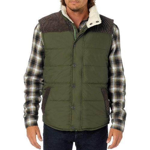 Mens Prana Waylen Outerwear Vests - Cargo Green XXL