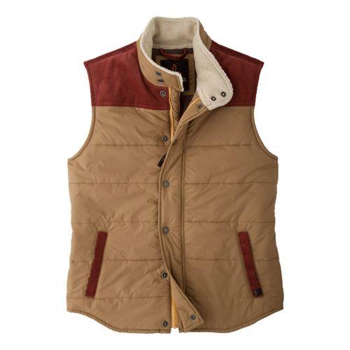 Mens Prana Waylen Outerwear Vests - Khaki L
