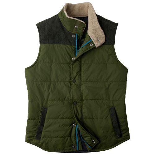 Mens Prana Waylen Outerwear Vests - Leaf XL
