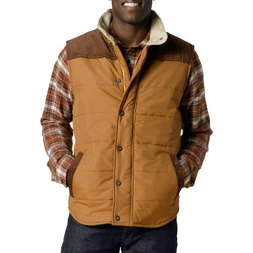 Mens Prana Waylen Outerwear Vests - Light Ginger M