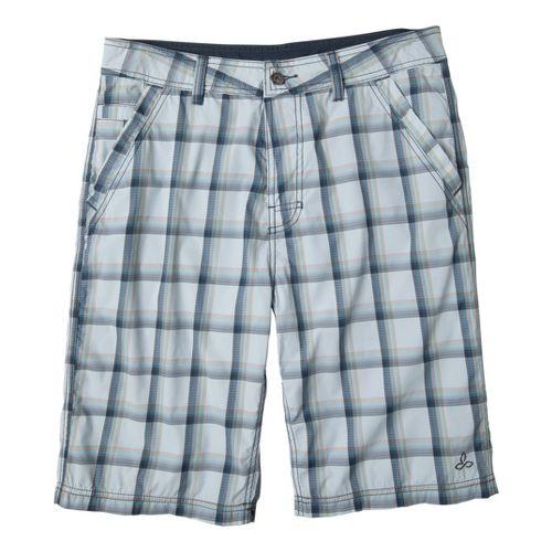 Mens Prana Winder Unlined Shorts - Light Blue 36