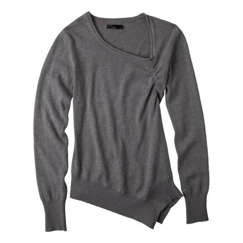 Womens Prana Ziggy Sweater Long Sleeve Non-Technical Tops - Heather Grey L