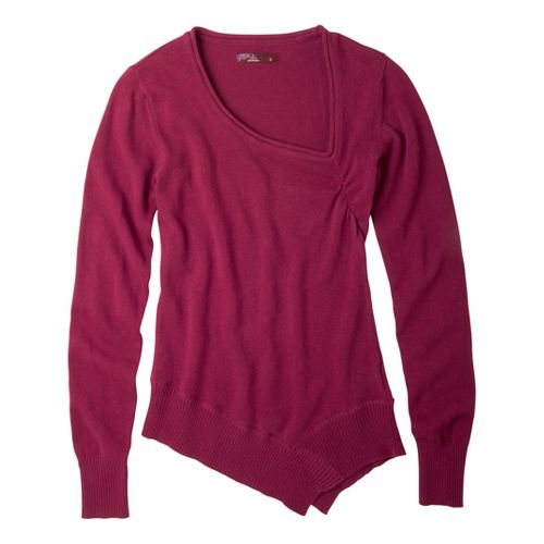 Womens Prana Ziggy Sweater Long Sleeve Non-Technical Tops - Plum Red L