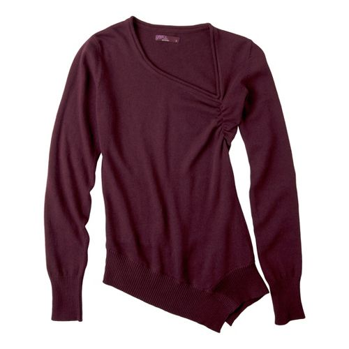Womens Prana Ziggy Sweater Long Sleeve Non-Technical Tops - Port XS
