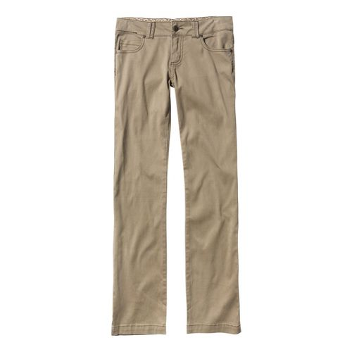 Womens Prana Bedford Canyon Full Length Pants - Dark Khaki 8