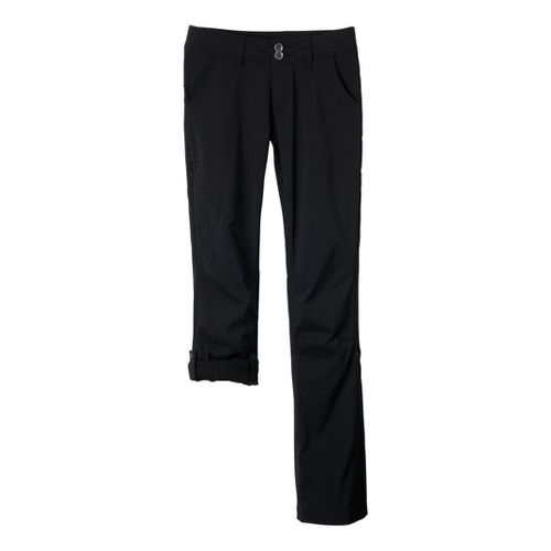 Womens Prana Halle Full Length Pants - Black 0T
