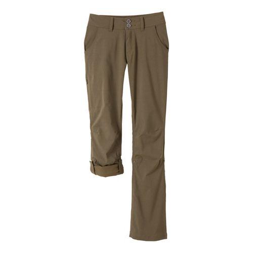 Womens Prana Halle Full Length Pants - Cargo Green 2