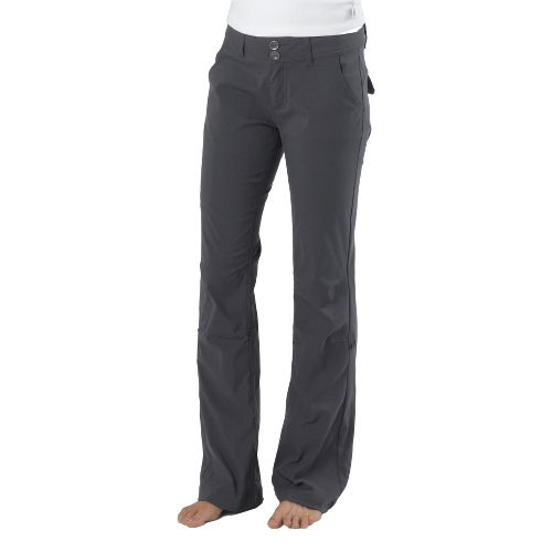 Womens Prana Halle Full Length Pants - Coal 16
