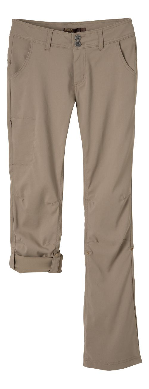 Womens Prana Halle Pants - Dark Khaki 2-T