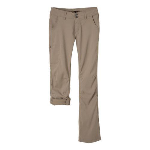 Womens Prana Halle Full Length Pants - Dark Khaki 10T