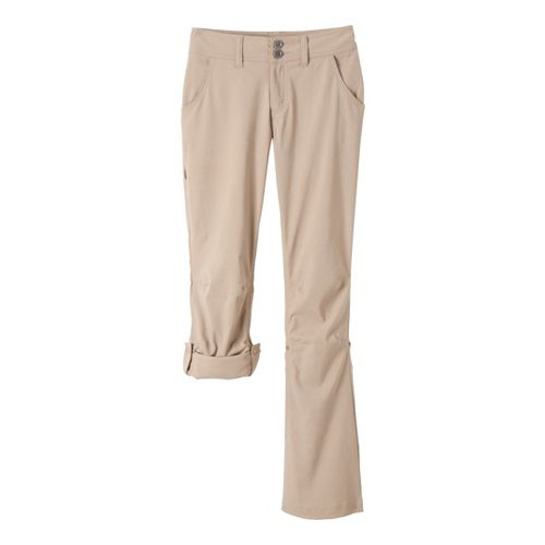 Womens Prana Halle Full Length Pants - Khaki 12