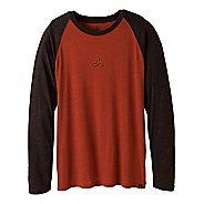 Mens Prana Heathered Raglan Long Sleeve Non-Technical Tops