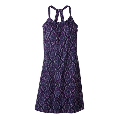 Womens Prana Quinn Dress Fitness Skirts - Amethyst Casbah XL