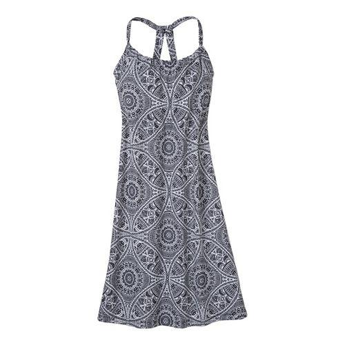 Womens Prana Quinn Dress Fitness Skirts - Black Mayan XS
