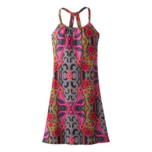 Womens Prana Quinn Dress Fitness Skirts - Coral Malibu M