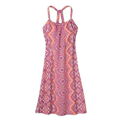 Womens Prana Quinn Dress Fitness Skirts - Fuchsia Bali XS