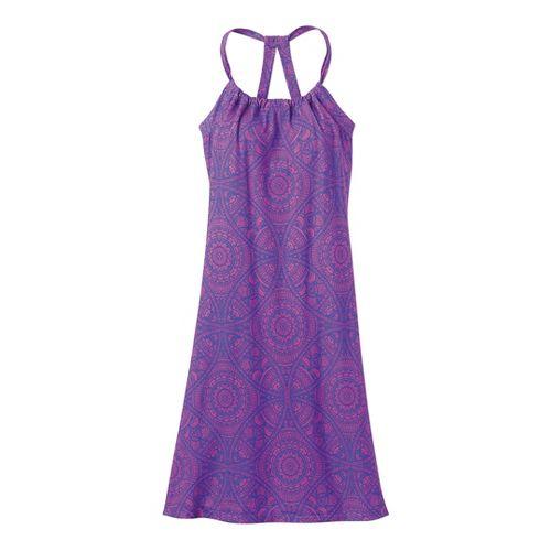 Womens Prana Quinn Dress Fitness Skirts - Sail Blue Mayan S