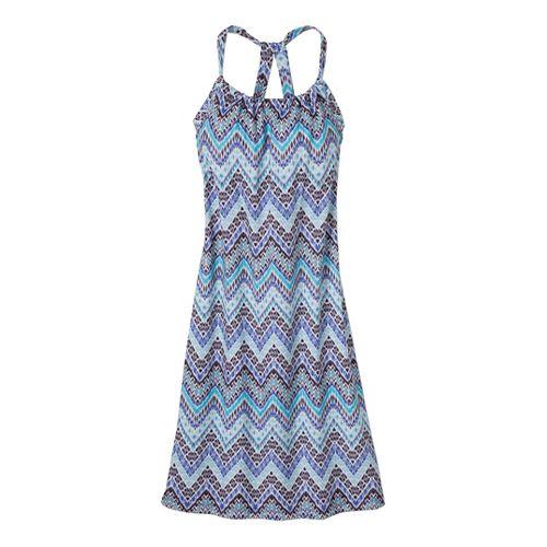 Womens Prana Quinn Dress Fitness Skirts - Sail Blue Tempo S
