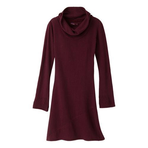 Womens Prana Kaya Sweater Dress Fitness Skirts - Port XL