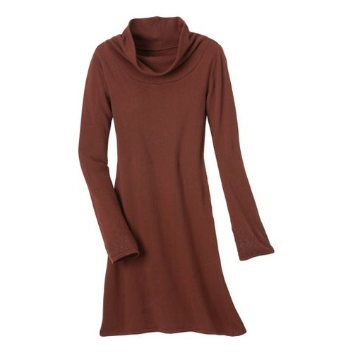 Womens Prana Kaya Sweater Dress Fitness Skirts - Terracotta XS