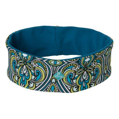 Prana Reversible Headband Headwear - Cyan Tile