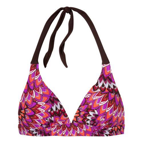 Womens Prana Lahari Halter Top UniSuits - Neon Berry Flora XL