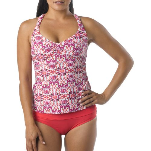 Womens Prana Manori Tankini Top UniSuits - Sprinkle Lotus XL