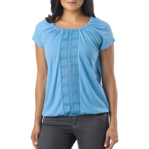 Womens Prana Jana Short Sleeve Non-Technical Tops - Azure S