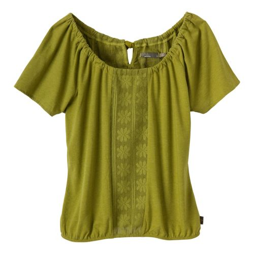 Womens Prana Jana Short Sleeve Non-Technical Tops - Grass L