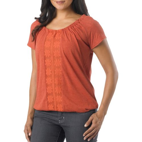 Womens Prana Jana Short Sleeve Non-Technical Tops - Indian Red XL