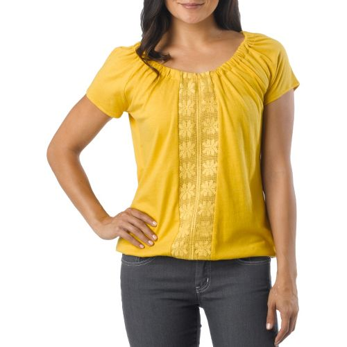 Womens Prana Jana Short Sleeve Non-Technical Tops - Lemon M