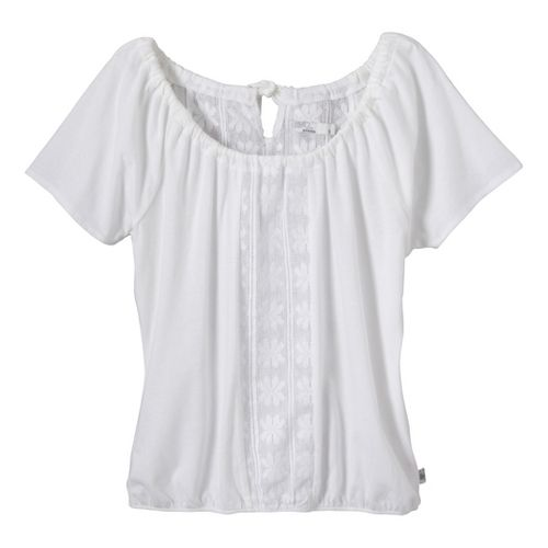 Womens Prana Jana Short Sleeve Non-Technical Tops - White S