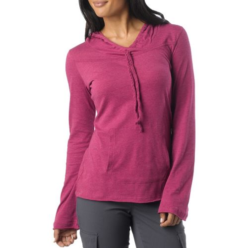 Womens Prana Tanya Long Sleeve Non-Technical Tops - Boysenberry S