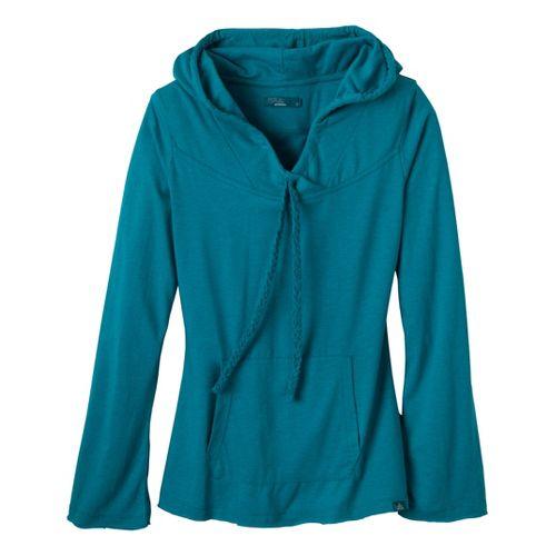 Womens Prana Tanya Long Sleeve Non-Technical Tops - Capri Blue M