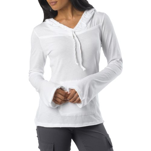 Womens Prana Tanya Long Sleeve Non-Technical Tops - White XS
