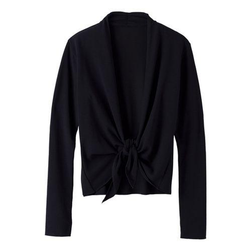 Womens Prana Veeda Wrap Long Sleeve Non-Technical Tops - Black M