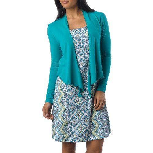 Womens Prana Veeda Wrap Long Sleeve Non-Technical Tops - Dragonfly XL