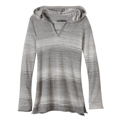 Womens Prana Gemma Sweater Long Sleeve Non-Technical Tops - Gravel XS