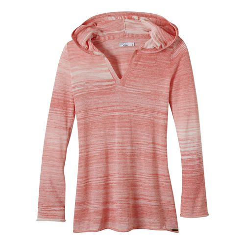 Womens Prana Gemma Sweater Long Sleeve Non-Technical Tops - Neon Orange L