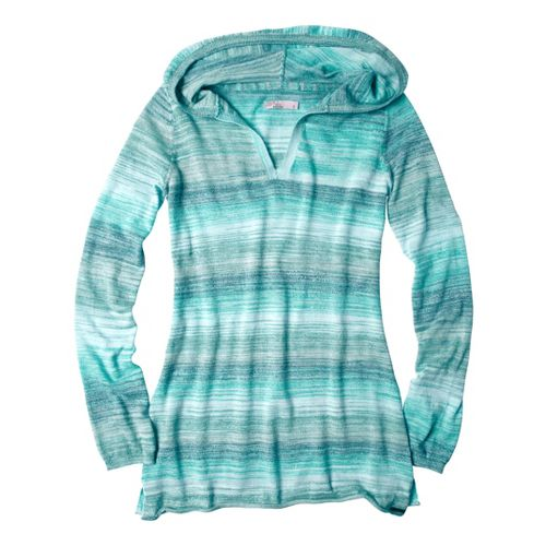 Womens Prana Gemma Sweater Long Sleeve Non-Technical Tops - Capri Blue L