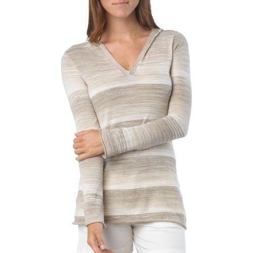 Womens Prana Gemma Sweater Long Sleeve Non-Technical Tops - Dark Khaki XL