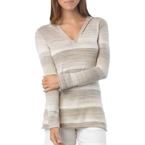 Womens Prana Gemma Sweater Long Sleeve Non-Technical Tops - Dark Khaki XS