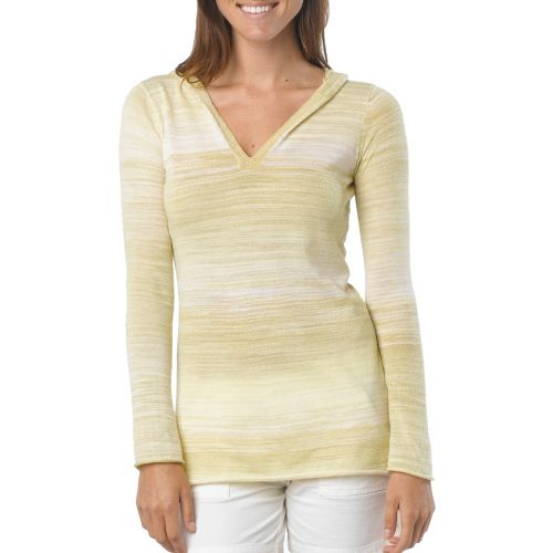 Womens Prana Gemma Sweater Long Sleeve Non-Technical Tops - Lemon S