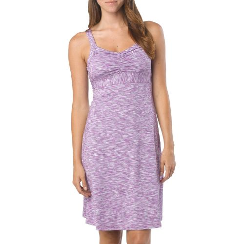 Womens Prana Amaya Spacedye Dress Fitness Skirts - Boysenberry XL